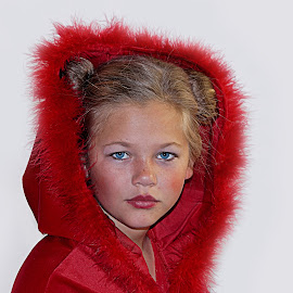 Little girl in red by Lize Hill - Babies & Children Child Portraits