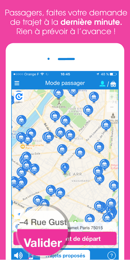 Citygoo - covoiturage urbain Screenshot 1