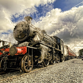 Ready to Depart by Dave Smith - Transportation Trains