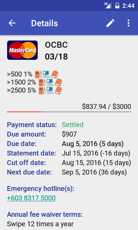 Credit Card Manager Pro Screenshot 1