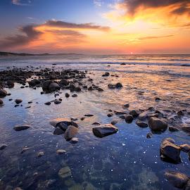 Nahoon Reef by Lloyd Seeber - Landscapes Beaches ( nahoon, east london, reef, sunrise, beach, colours )