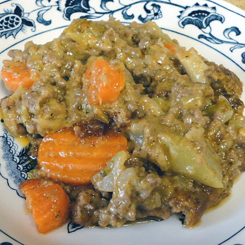 CREAMY BEEF & VEGETABLE CASSEROLE