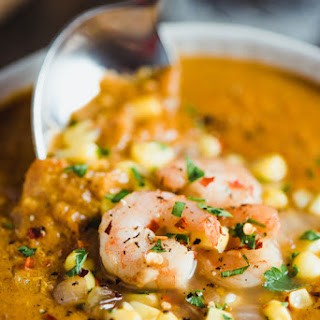 Smoked Paprika Shrimp and Corn Chowder
