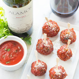 Italian Mozzarella Stuffed Meatballs