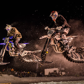 Snowbike Cross by Kenton Knutson - Sports & Fitness Motorsports ( winter, snowbike, moto, snow )