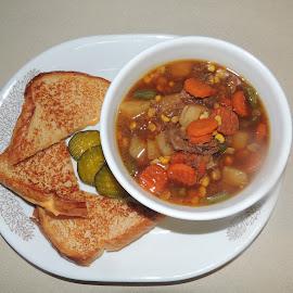 Soups' on. by Carolyn Kernan - Food & Drink Plated Food