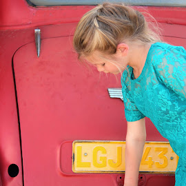 Girl with car by Lize Hill - Babies & Children Child Portraits