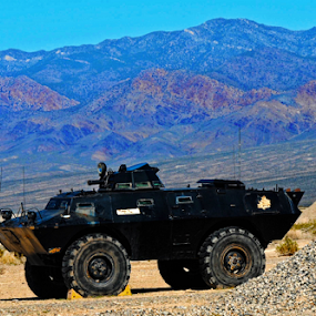 Desert Adventures by Amada Gonzalez - Transportation Other ( desert, transportation, travel, landscape, military )