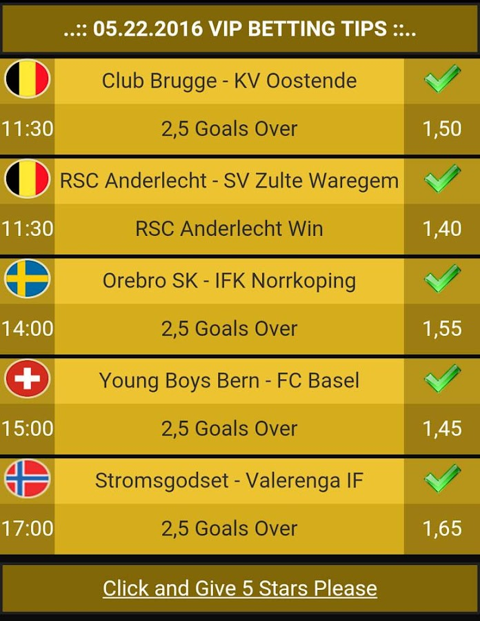 Betting Tips VIP Screenshot 4