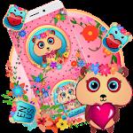 Pink Panda Keyboard Theme Icon