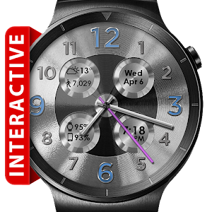 Cover art Brushed Silver HD Watch Face
