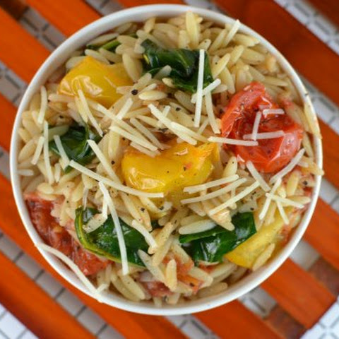 Tomato and Spinach Balsamic Orzo