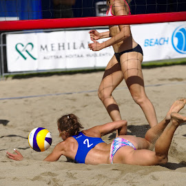 Almost by Simo Järvinen - Sports & Fitness Other Sports ( playing, female, outdoor, players, beach volley, action, sports, summer, women )