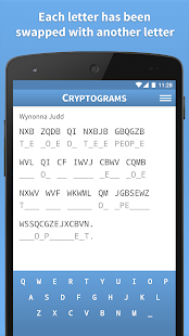 Cryptograms · Cryptoquote Game - screenshot
