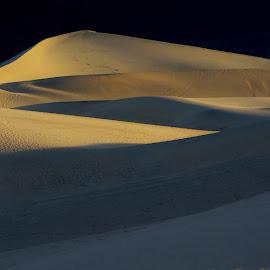 Play of Light by Richard Michael Lingo - Landscapes Deserts ( death valley, desert, sand dune, california, landscape )