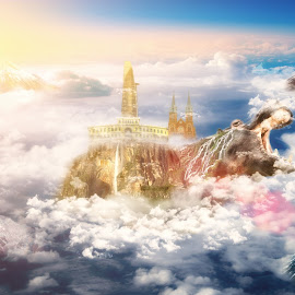 by Sơn Hải - Digital Art Places ( mountain, sky, digital art, cloud )