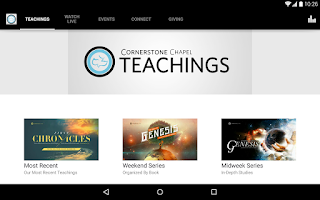 Screenshot of Cornerstone Chapel