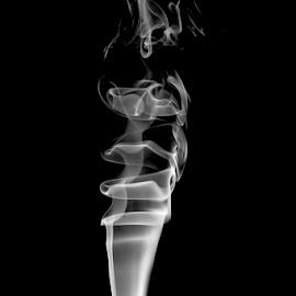 Smoke by Soyam Chhatrapati - Abstract Patterns ( abstract, abstract art, smoke photography, white, smoke )