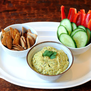 Edamame Dip With Red Onion and Sesame Oil