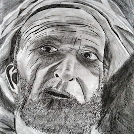 Untold Story by John McManus - Drawing All Drawing ( wrinkles, story, life, age, man )