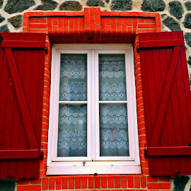 Window by Dobrin Anca - Buildings & Architecture Architectural Detail ( window, decoration, colorful, street, brittany )