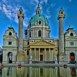 Karlskirche by Pravine Chester - Buildings & Architecture Places of Worship ( baroque, building, church, karlskirche, historical, architecture, places of worship )