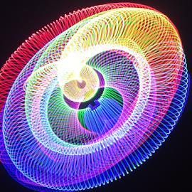 Slinky twist  by Jim Barton - Abstract Patterns ( slinky, laser light, colorful, light design, slinky twist, laser design, laser, laser light show, light, science )