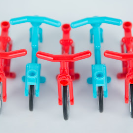 Bicycles by Gerald Glaza - Artistic Objects Toys ( bicycles, pattern, toys, lego, bicycle )