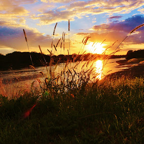 Fall Sunset by Diane Ebert - Landscapes Waterscapes ( #smile, #ilovephotography, #sunset,  )