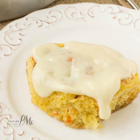 Scratch Made Carrot Cake Cinnamon Rolls With Cream Cheese Frosting