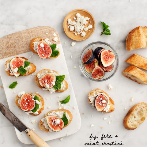 Fig, Feta & Mint Crostini