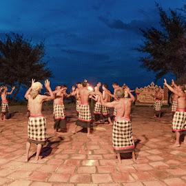 by Eko Probo D Warpani - People Musicians & Entertainers ( bali, tari kecak, fire dance, nikkor, sunset. beach, kecak, tamron, denpasar, historic, holiday, pulau dewata, outdoor, tanah lot, nikon, pura )