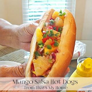 Mango Salsa Hot Dogs