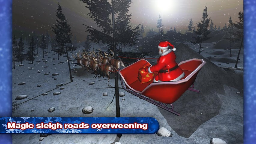 android 4x4 SUV Deer Santa Claus Screenshot 1