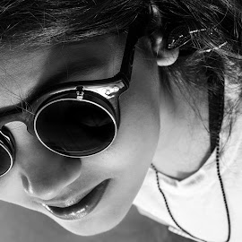 Shades by Shashi Patel - People Fashion ( shashiclicks, fashion, black and white, goggles, fashion photography )