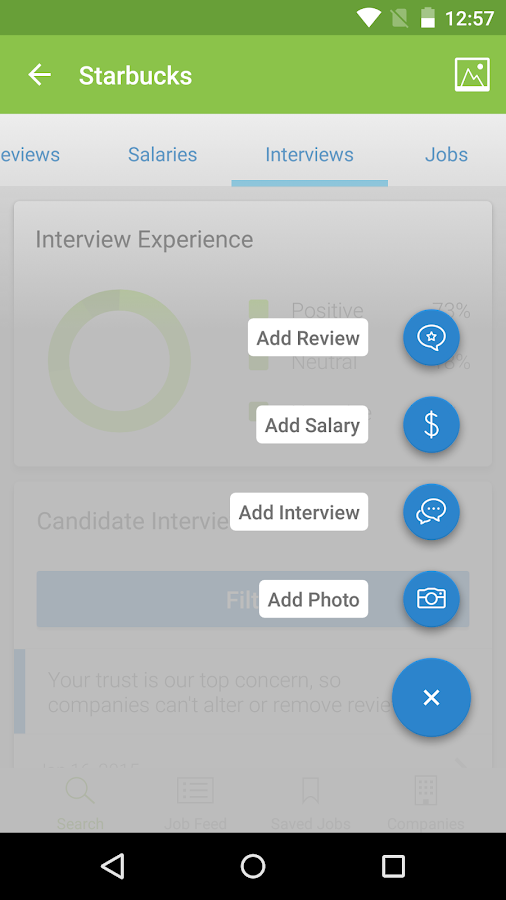 Job Search, Salaries & Reviews Screenshot 6