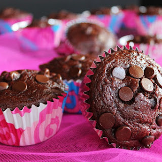 Chocolate Chip Covered Cherry Muffins