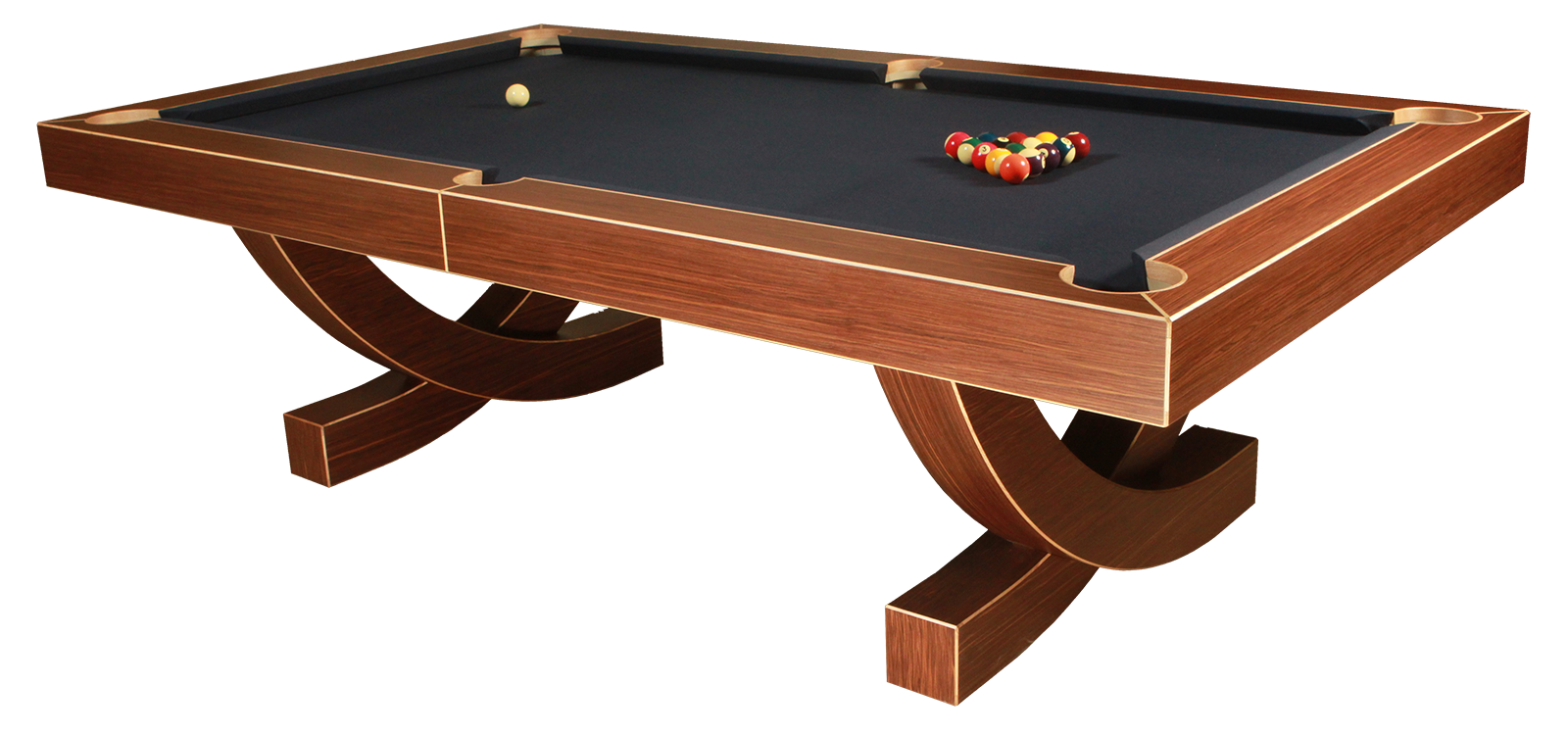 Designer Pool Tables rectangular pool table The Arc Contemporary Pool Table