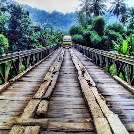 Wood Bridge by Randi Pratama M - Instagram & Mobile Android ( hdr, wood, truck, indonesia, bridge )