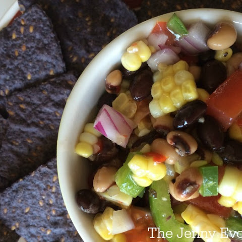 Spicy Black Bean, Corn and Fresh Tomato Salsa
