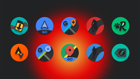Baked - Dark Android Pie-inspired icons Screenshot
