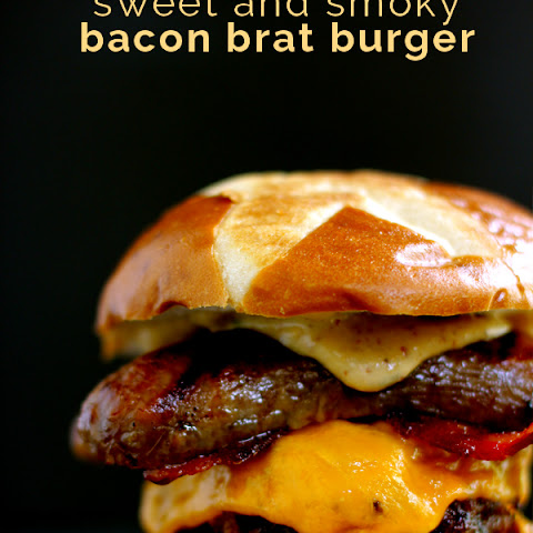 Sweet and Smoky Bacon Brat Burger