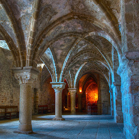 Cold walls, warm fire by Peter Kennett - Buildings & Architecture Other Interior ( tonemapped )