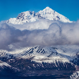 Alaska VI by Kelly Maize - Landscapes Cloud Formations ( mountains, snow, alaska, clouds, landscape )