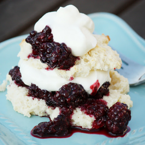 Easy Shortcake Recipe With Chunky Blackberry Sauce
