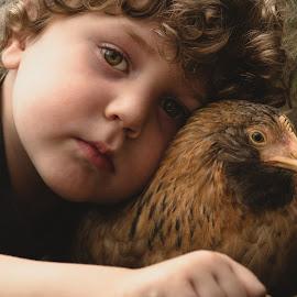 Black eye, hey chicken by Amy Wiester - Babies & Children Child Portraits