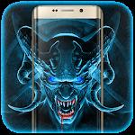 Horror Evil Blue Skull Icon