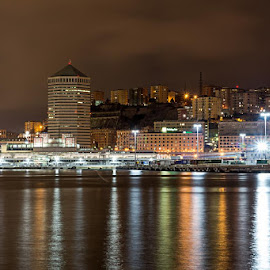 Paesaggio by night by Sergio Di - Uncategorized All Uncategorized ( #genova, #bynight, #fotografia, #liguria, #riviera )