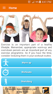 Home Workouts Fitness app screenshot 1 for Android