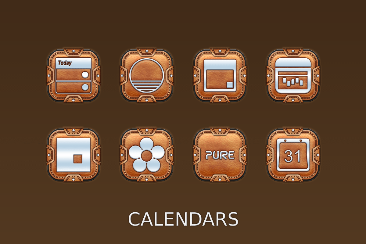 Leather Pouch-Icon Pack Screenshot 9